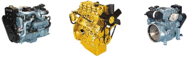 Selection of new and reconditioned engines