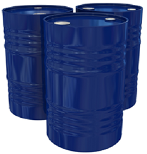 Large drums of oils and chemicals